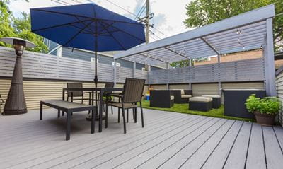 Shade coverage with pergola