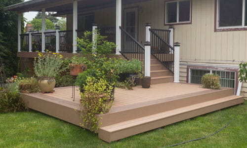 Deck built by Adrian's Quality Fencing & Decks from Beaverton, OR.