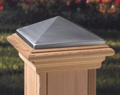 Deckorators Maranacook Pewter High Point Post Cap