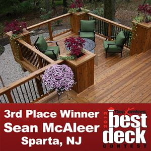 Deckorators Best Deck Contest 3rd Place