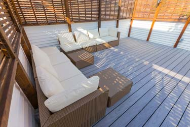 Deck with patio furniture