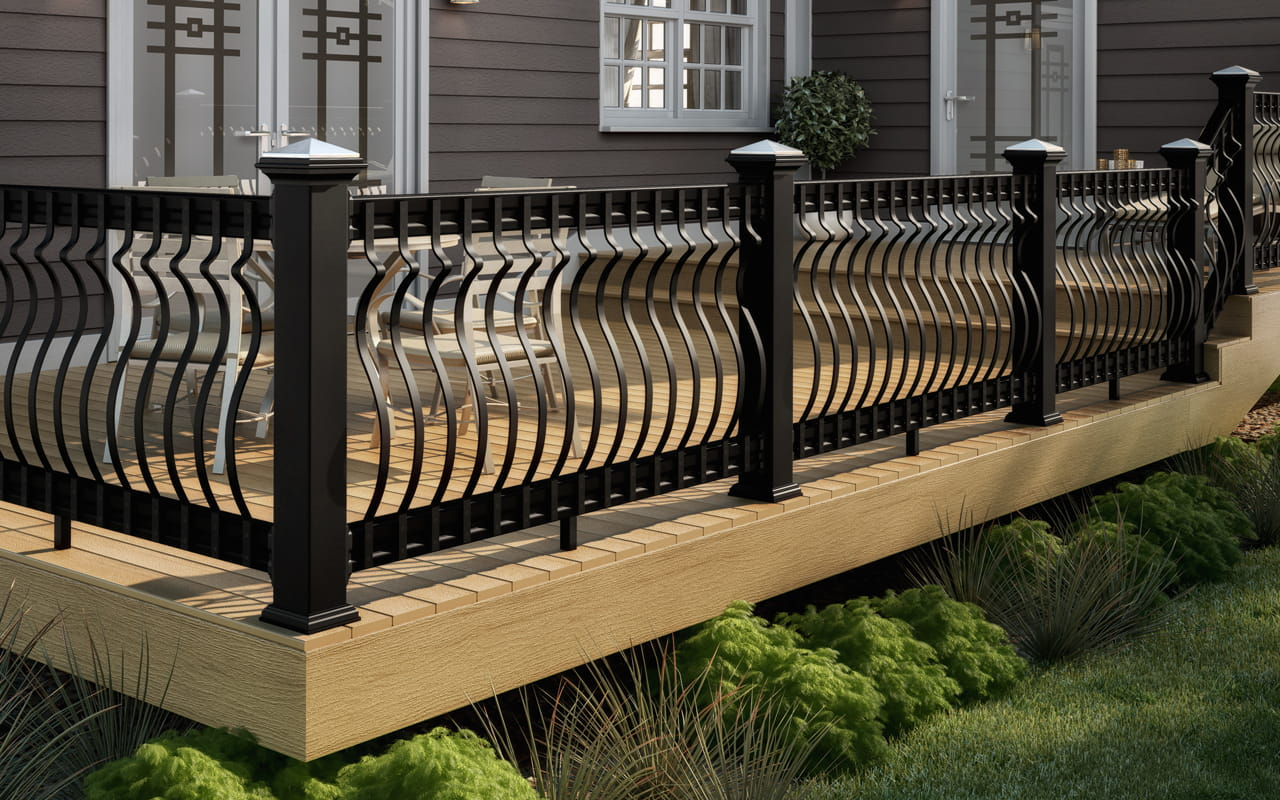 Decking Railing Balusters Post Caps And Accessories