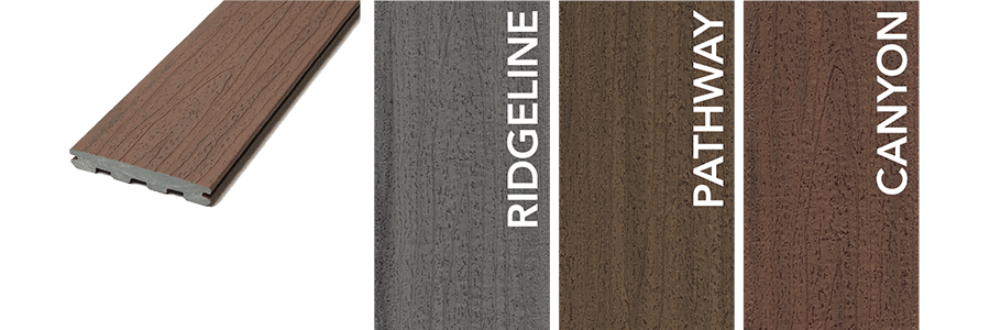 Trailhead Decking Colors: Ridgeline, Pathway and Canyon