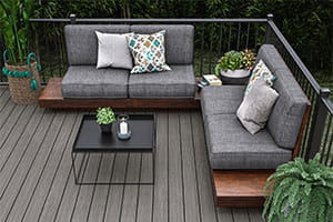 Trailhead Decking in Ridgeline with ALX Classic Railing in Textured Black