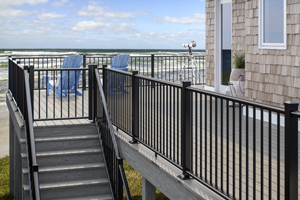 ALX Classic Railing with Vault Dusk Decking