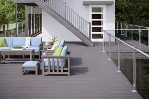 Vault Dusk Decking with ALX Contemporary Railing