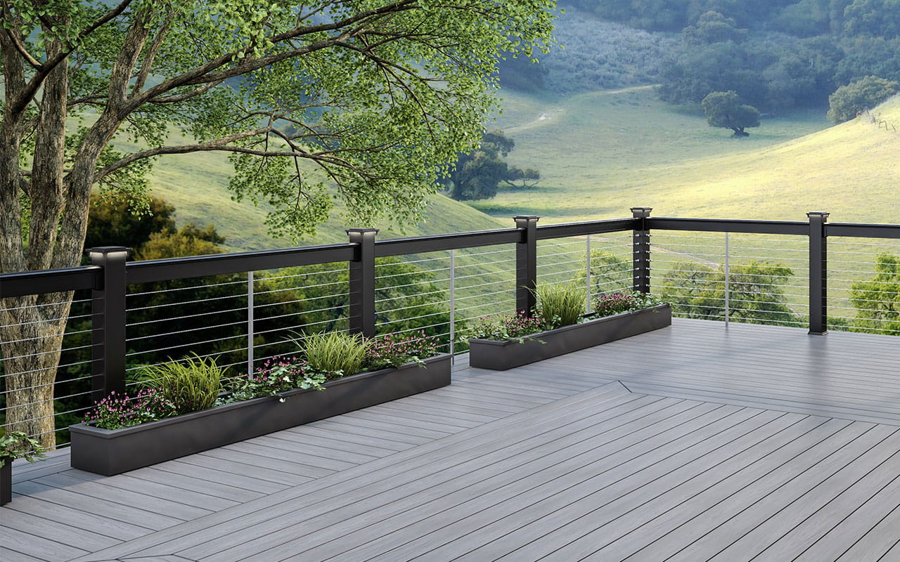 Deckorators Vault Decking with Cable Rail System