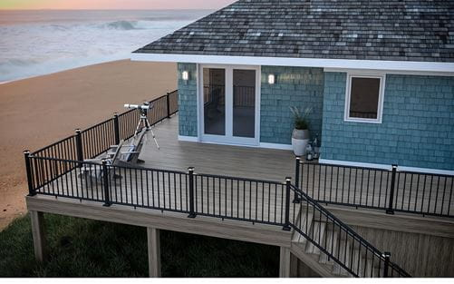 Voyage Tundra Decking with Matte Black ALX Classic Railing
