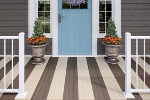 Deckorators Porch Flooring in Chicory and Macadamia
