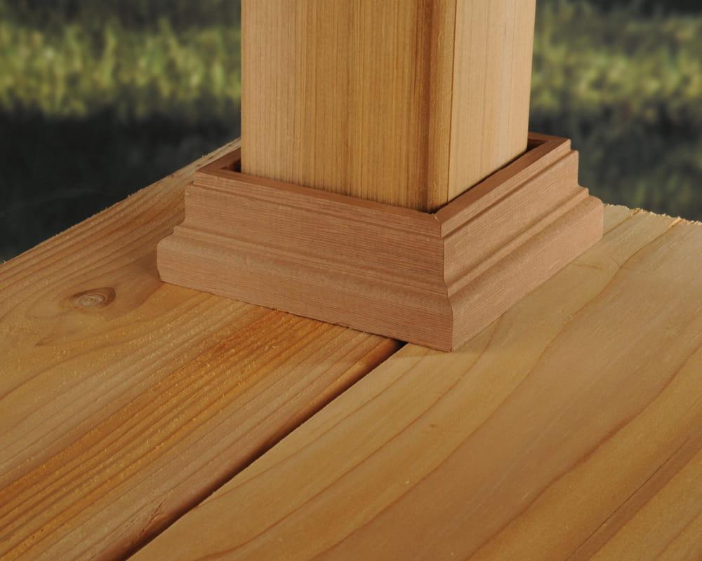 Dekorators Wood Deck Post Base Trim Fits 4-in x 4-in Wood Post