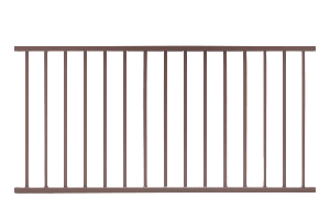 ALX Contemporary Weathered Brown Pre-assembled Railing