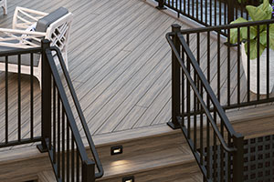 ALX Contemporary Pre-assembled Railing with Secondary Handrail Components