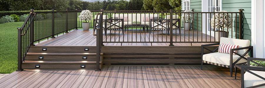 Weathered Brown ALX Classic Railing