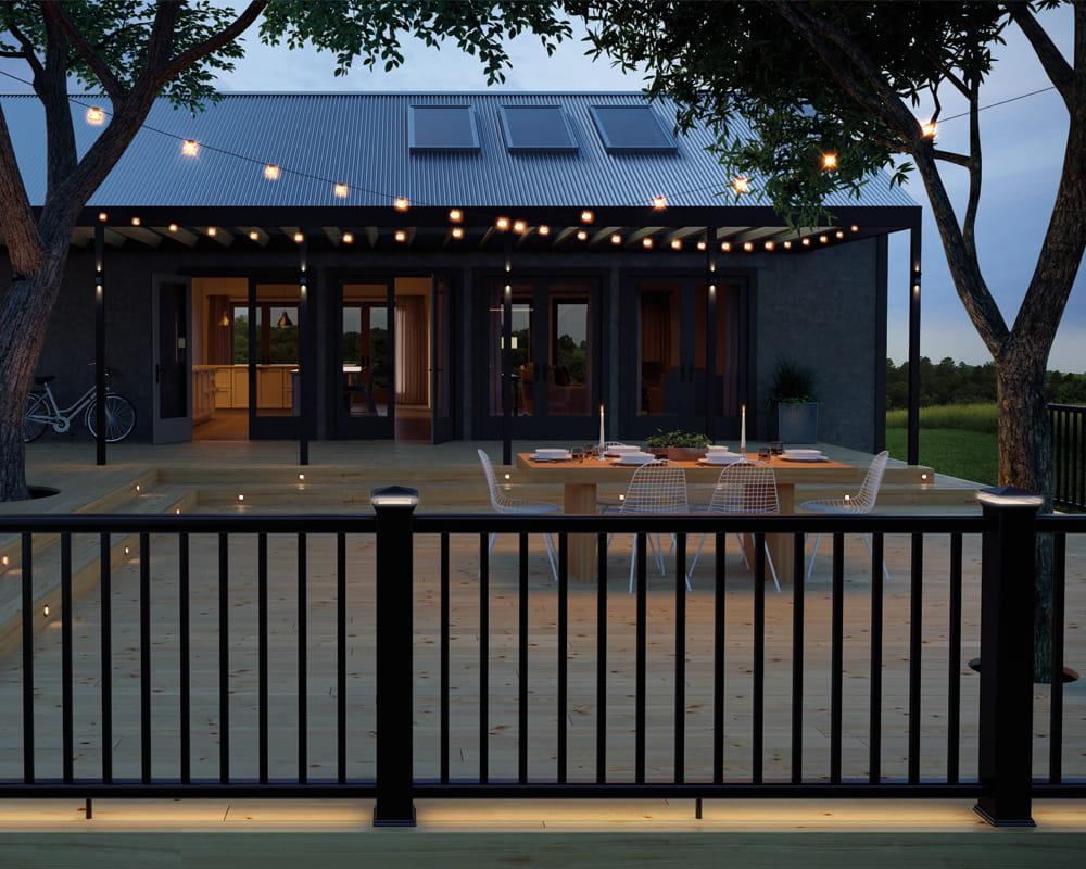 Inspirational details for outdoor living deckorators deck lights mozeypictures Images
