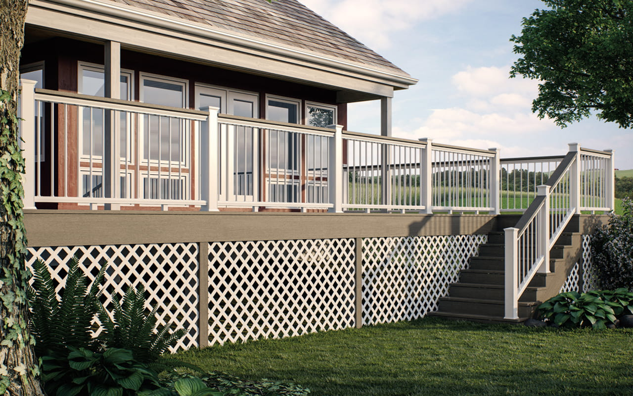 How to install fence under deck howsto co - Things consider installing balcony home ...