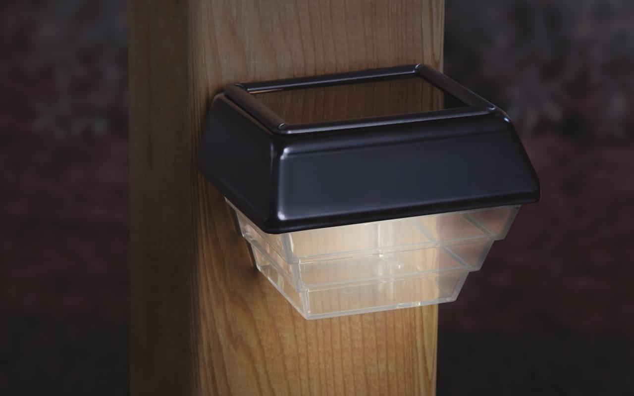 Residential Solar Light Post: Post & Stair Light 2-Pack