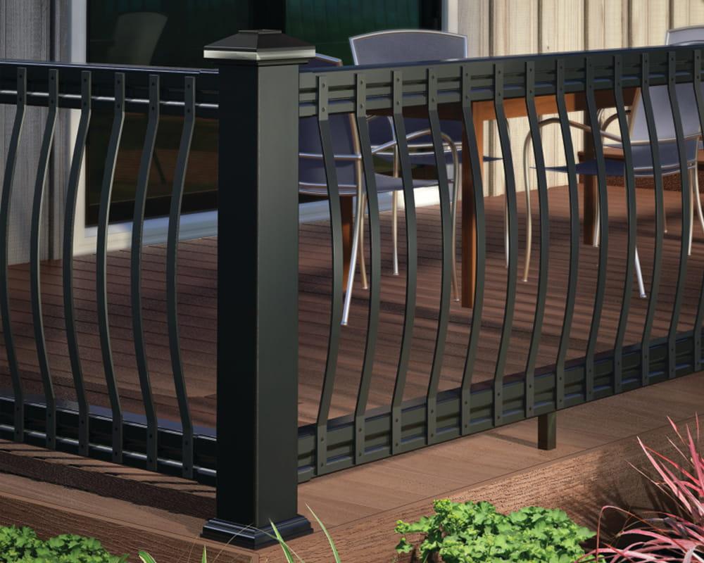 Arc aluminum balusters deckorators for Garden decking spindles