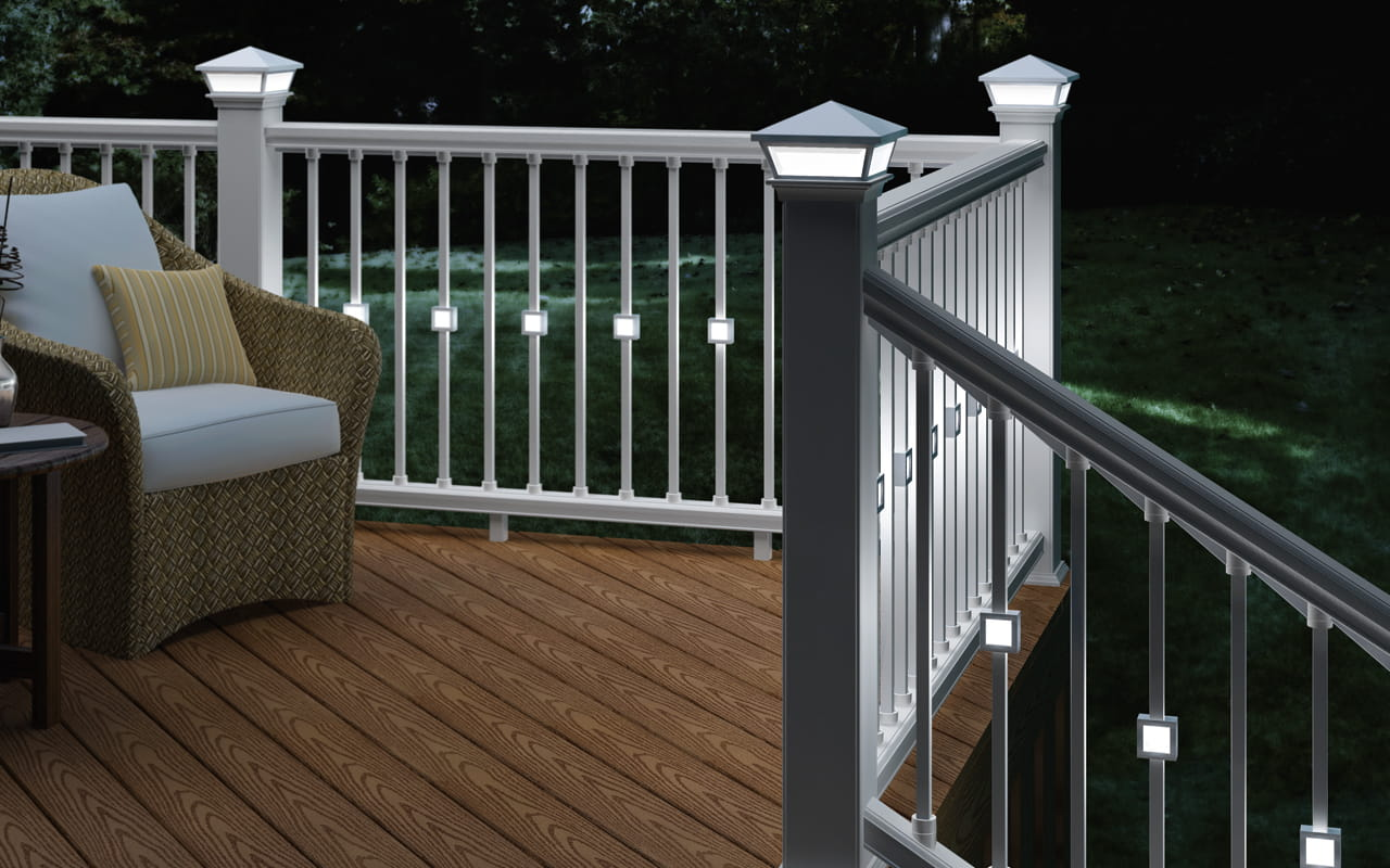 Estate aluminum balusters deckorators for Garden decking spindles