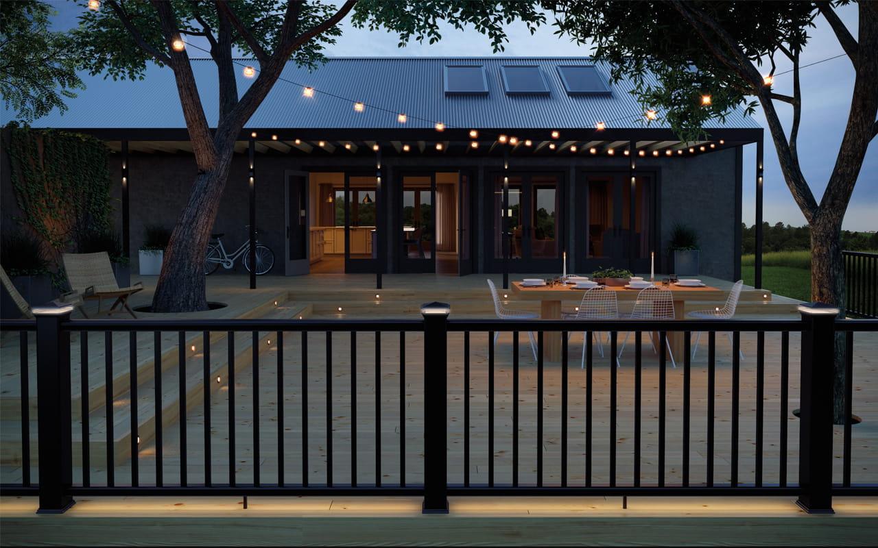 Heritage composite decking deckorators for Decking lights