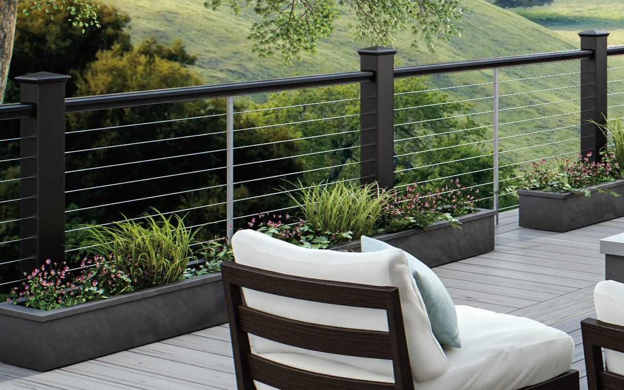 cable railing deckorators. Black Bedroom Furniture Sets. Home Design Ideas